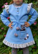 Теплое детское платье
